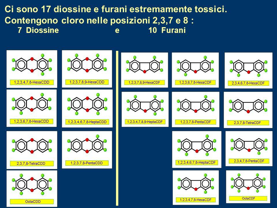 Ci sono 17 diossine e furani estremamente tossici