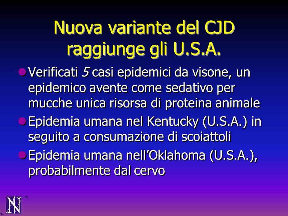 Nuova variante del CJD raggiunge gli U.S.A.