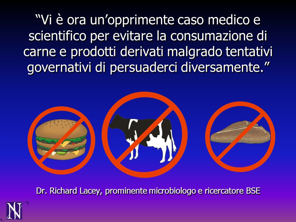 Dr. Richard Lacey, prominente microbiologo e ricercatore BSE