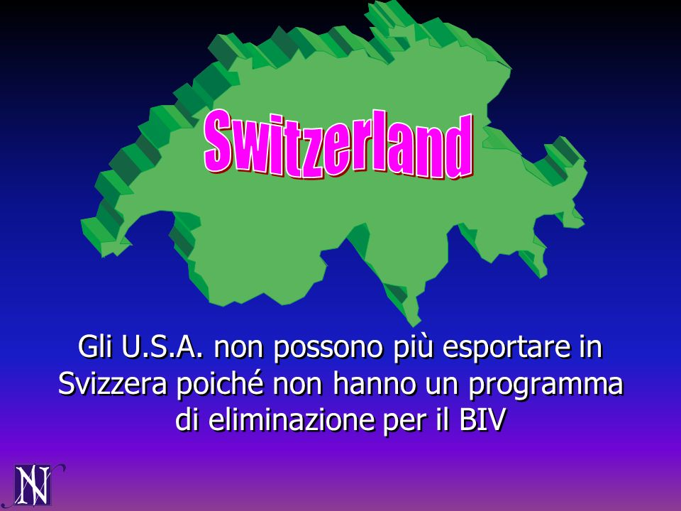Switzerland Gli U.S.A.