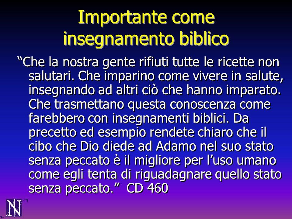 Importante come insegnamento biblico
