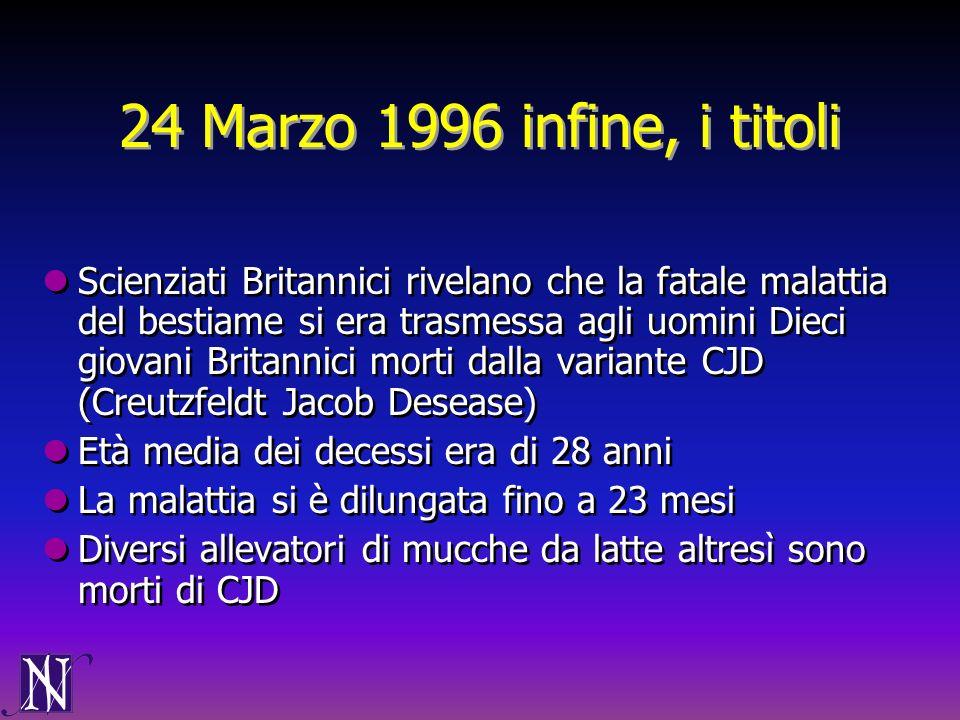 24 Marzo 1996 infine, i titoli