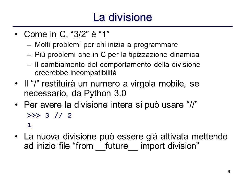 La divisione Come in C, 3/2 è 1