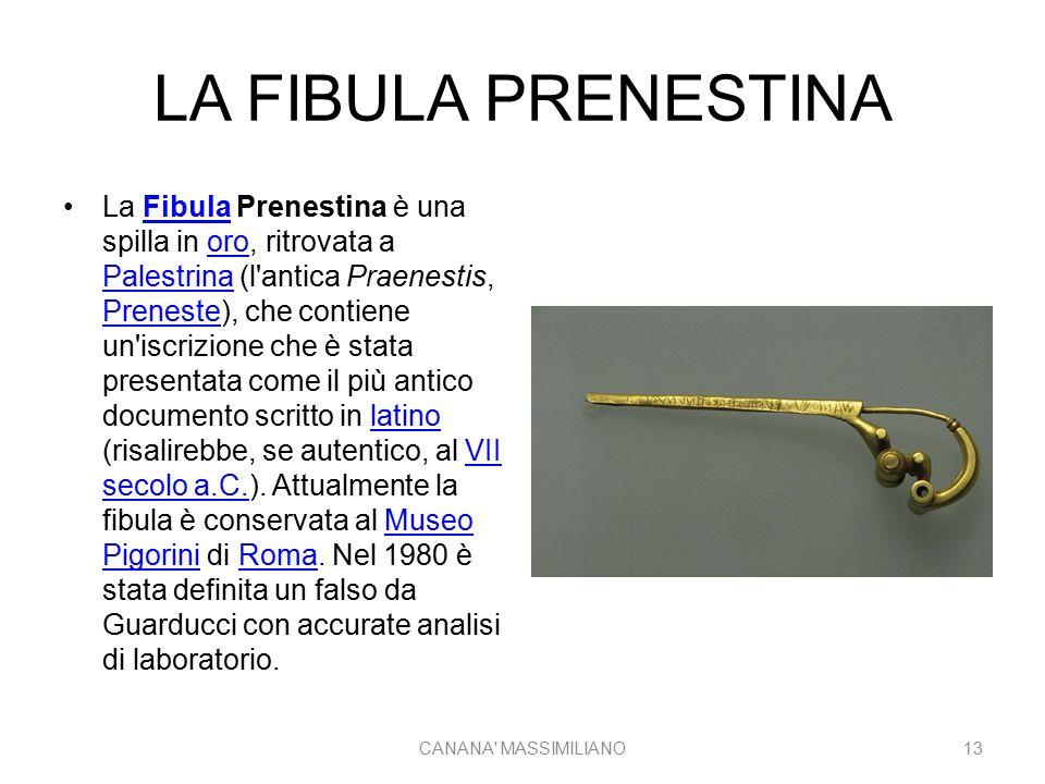LA FIBULA PRENESTINA