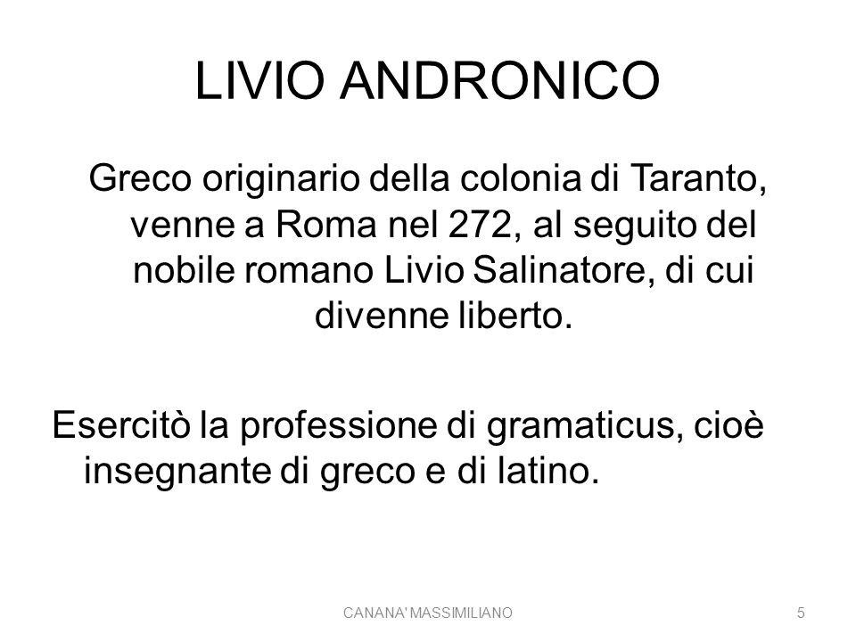 LIVIO ANDRONICO