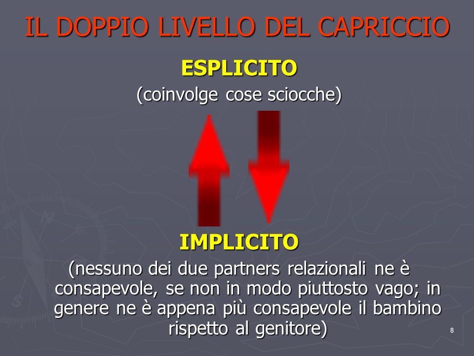 IL DOPPIO LIVELLO DEL CAPRICCIO