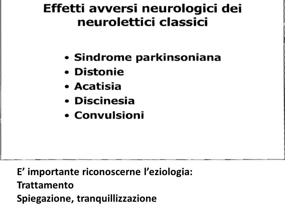 E' importante riconoscerne l'eziologia: Trattamento Spiegazione, tranquillizzazione