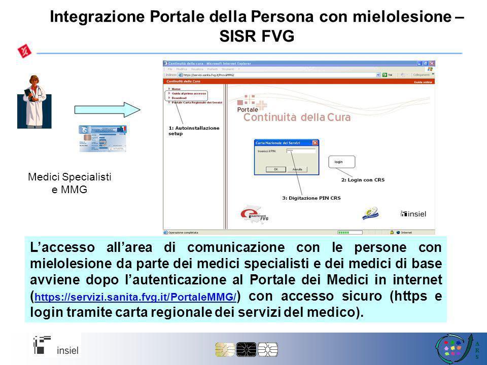Integrazione Portale della Persona con mielolesione – SISR FVG