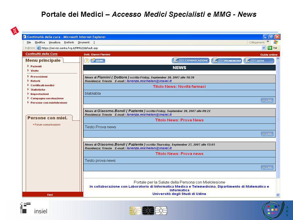 Portale dei Medici – Accesso Medici Specialisti e MMG - News