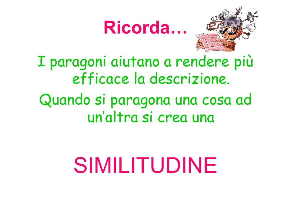 SIMILITUDINE Ricorda…