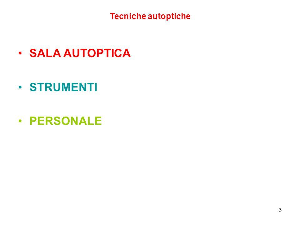 Tecniche autoptiche SALA AUTOPTICA STRUMENTI PERSONALE 3