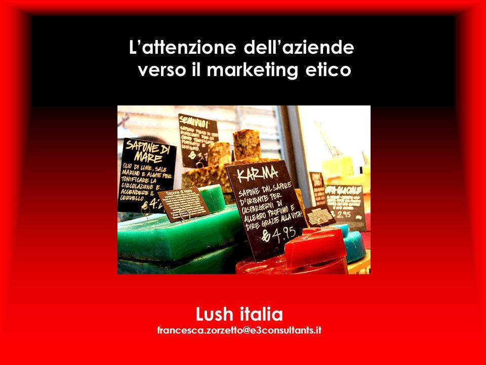 L'attenzione dell'aziende verso il marketing etico