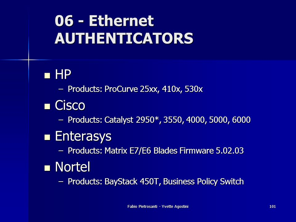 06 - Ethernet AUTHENTICATORS