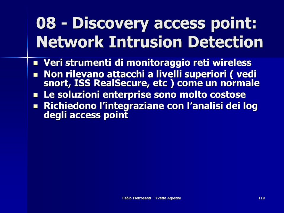 08 - Discovery access point: Network Intrusion Detection