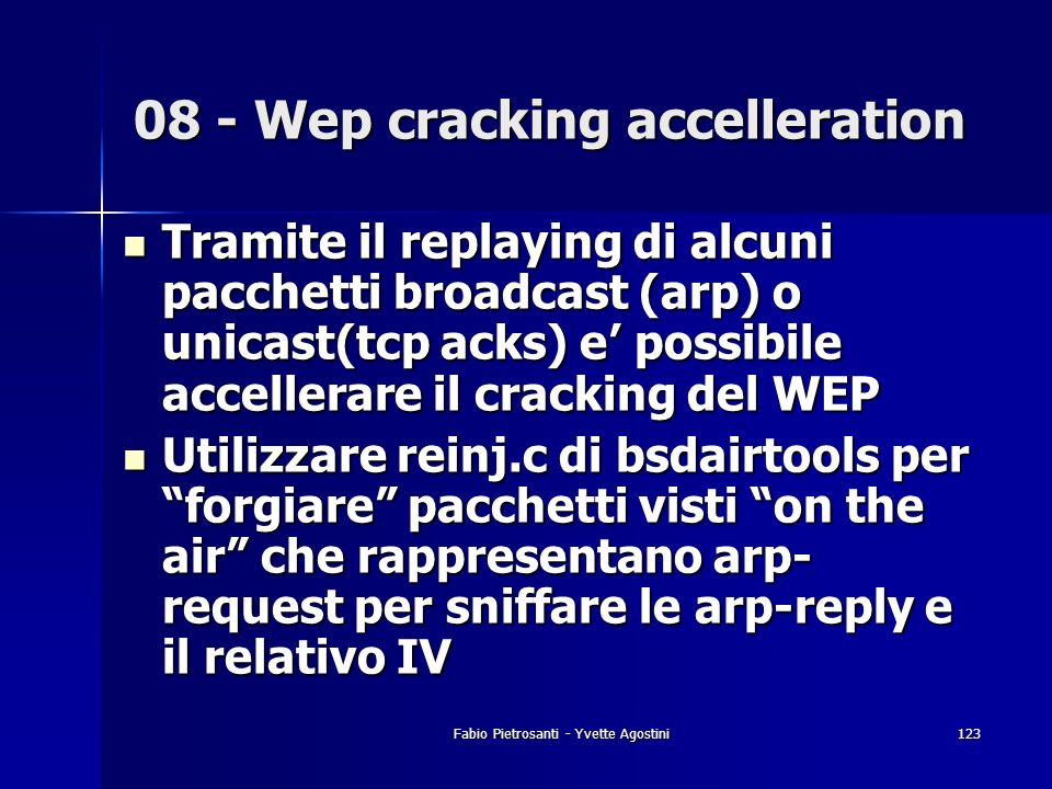 08 - Wep cracking accelleration