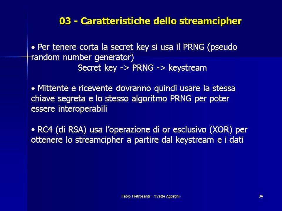 03 - Caratteristiche dello streamcipher