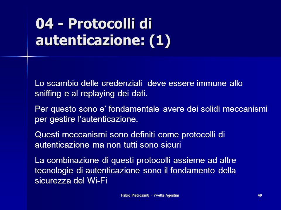 04 - Protocolli di autenticazione: (1)