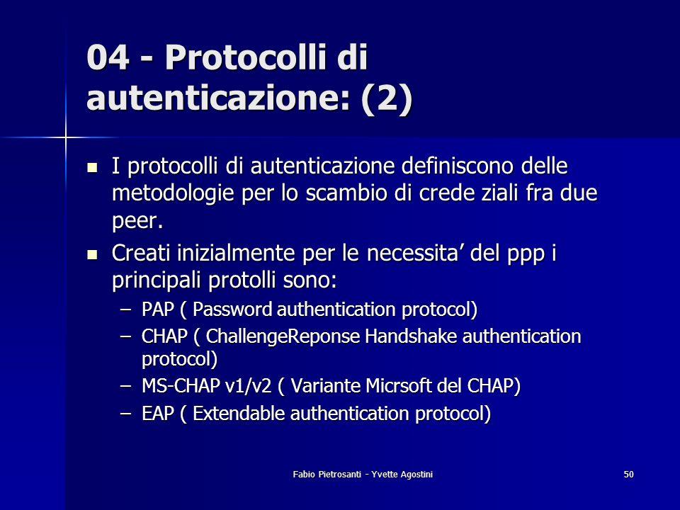 04 - Protocolli di autenticazione: (2)