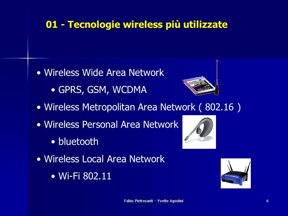 01 - Tecnologie wireless più utilizzate