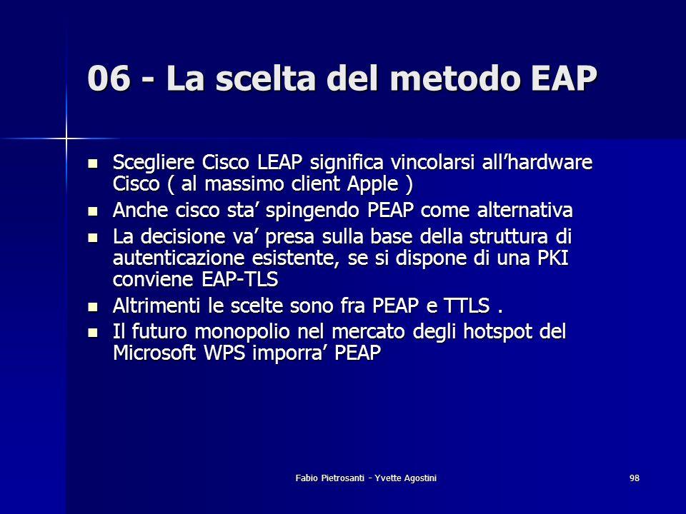 06 - La scelta del metodo EAP