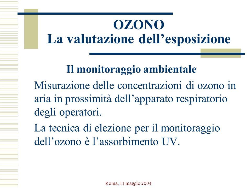 OZONO La valutazione dell'esposizione