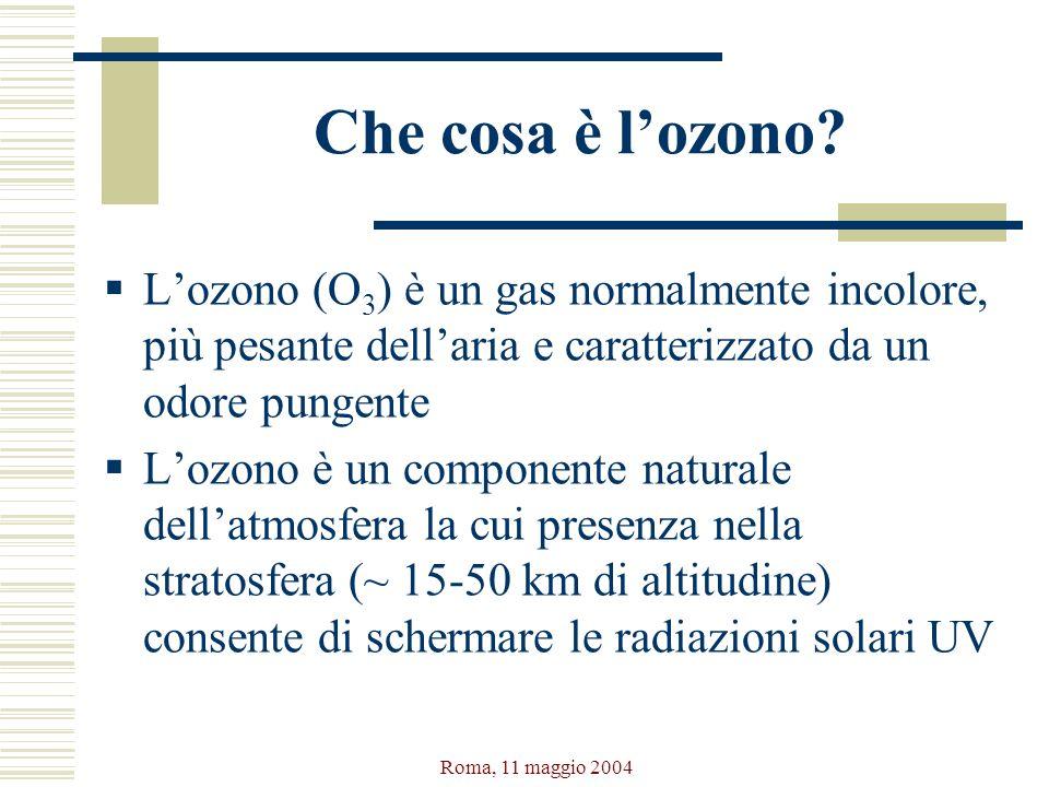 Che cosa è l'ozono L'ozono (O3) è un gas normalmente incolore, più pesante dell'aria e caratterizzato da un odore pungente.