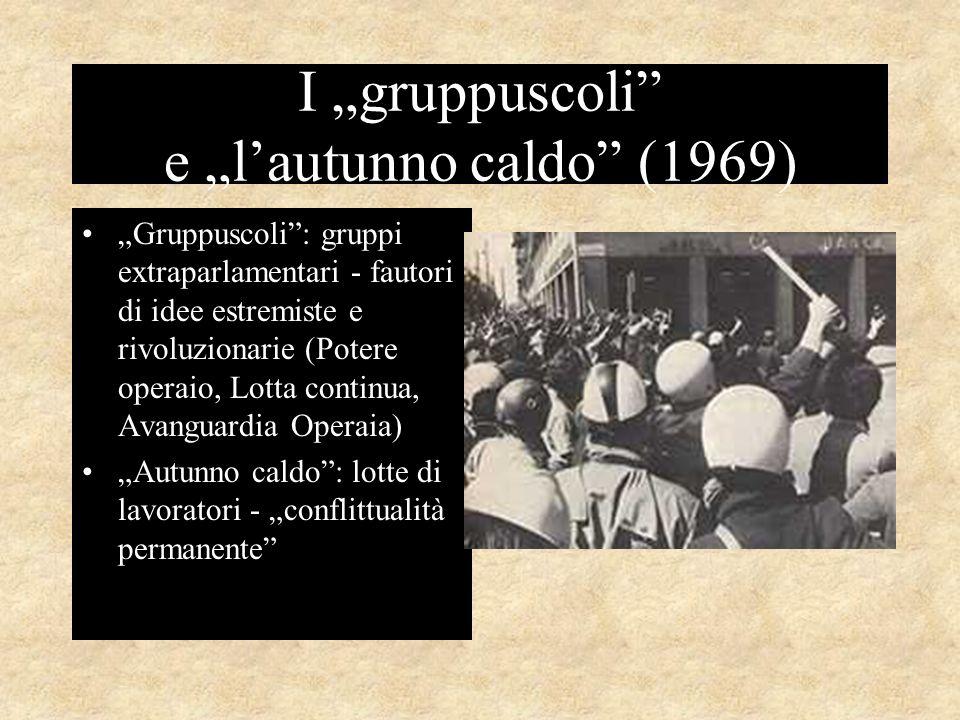 """I """"gruppuscoli e """"l'autunno caldo (1969)"""