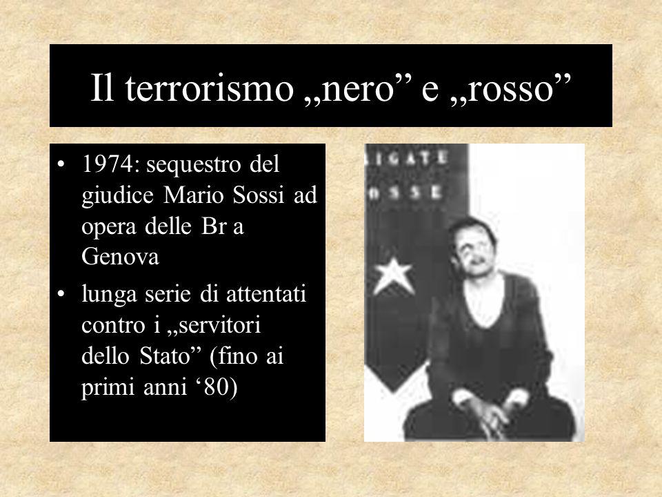 """Il terrorismo """"nero e """"rosso"""
