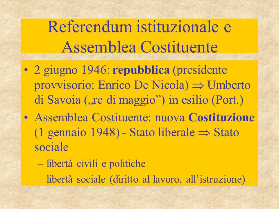 Referendum istituzionale e Assemblea Costituente