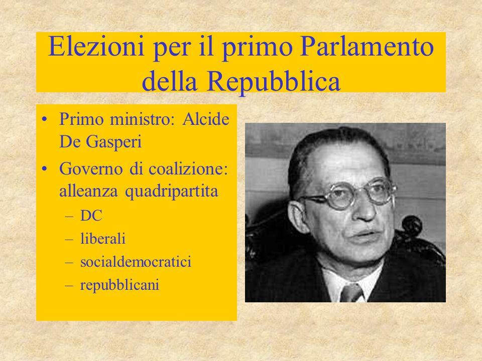 Elezioni per il primo Parlamento della Repubblica