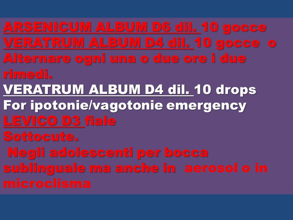 ARSENICUM ALBUM D6 dil. 10 gocce