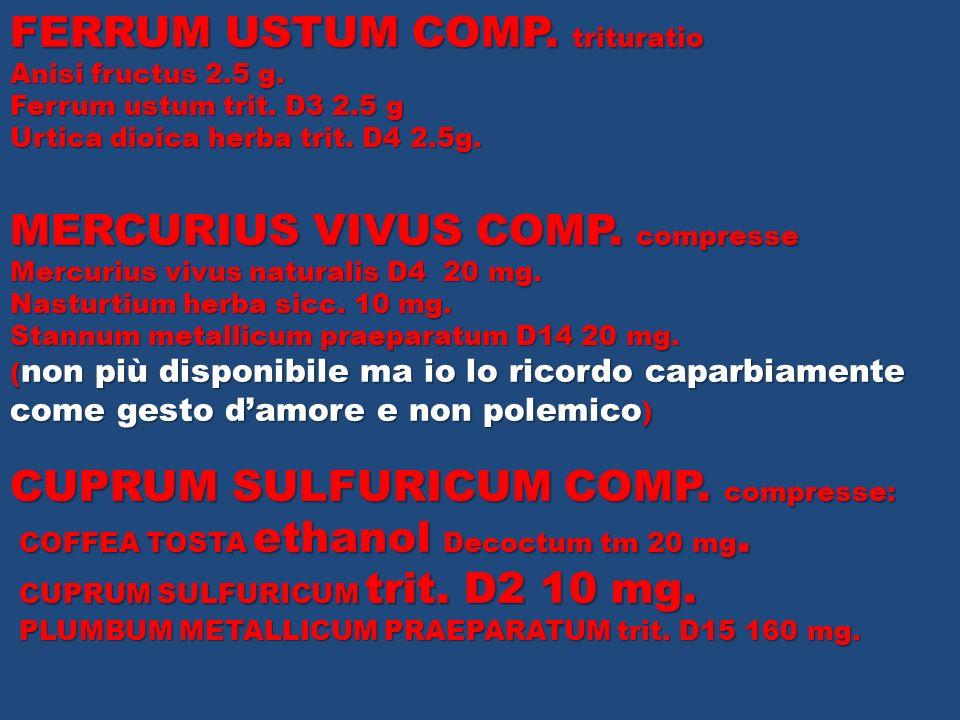 FERRUM USTUM COMP. trituratio