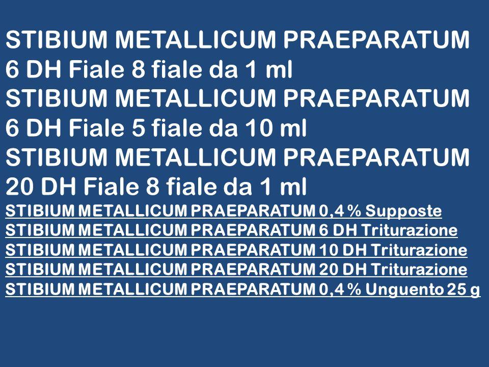STIBIUM METALLICUM PRAEPARATUM 6 DH Fiale 8 fiale da 1 ml