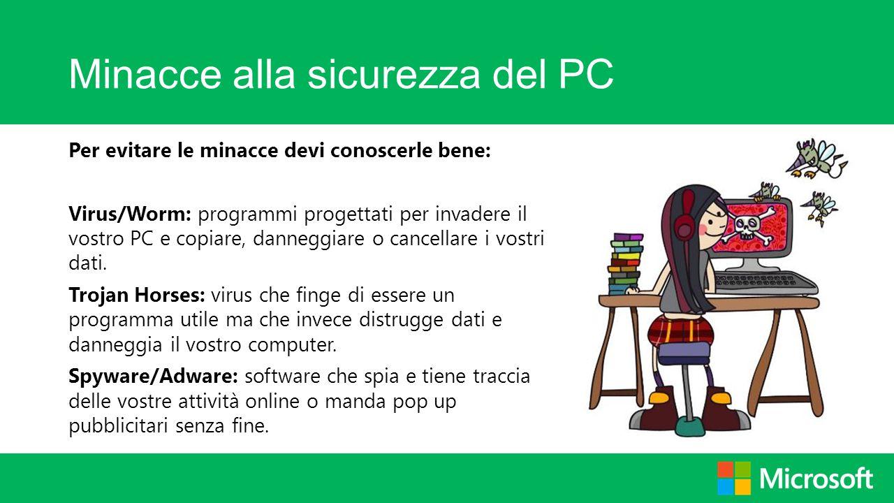 Minacce alla sicurezza del PC