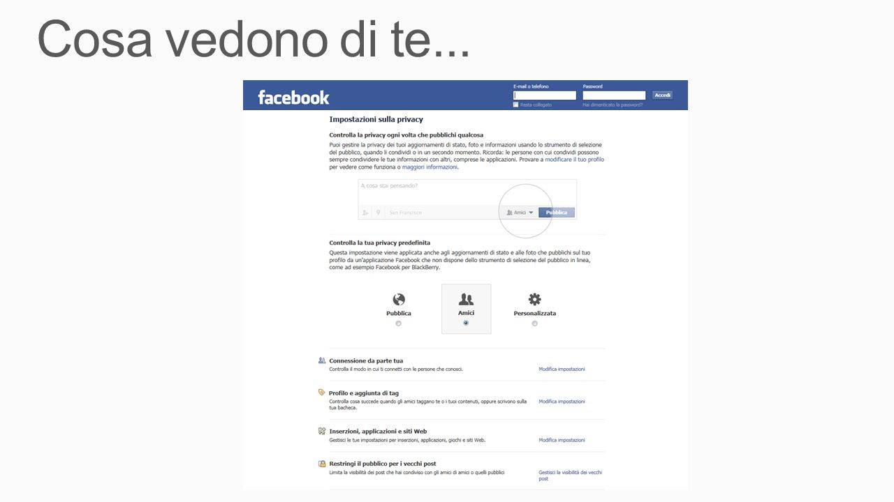 Cosa vedono di te... Demo Search da Facebook 5