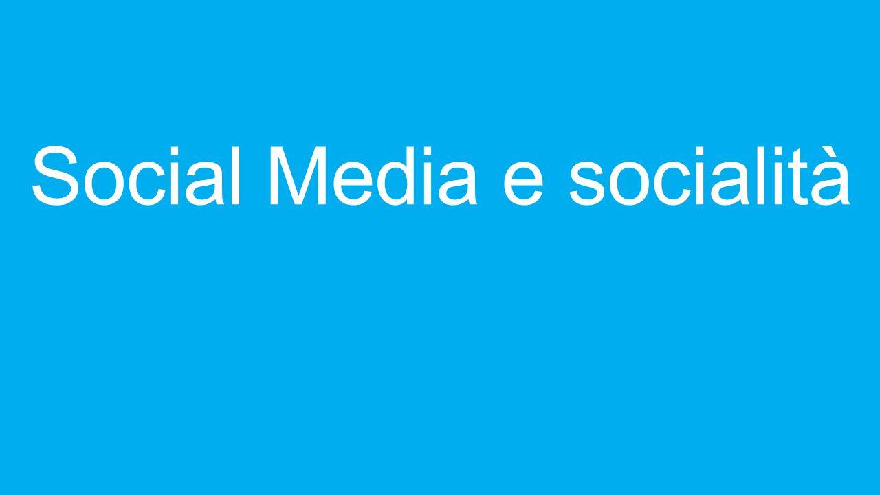 Social Media e socialità