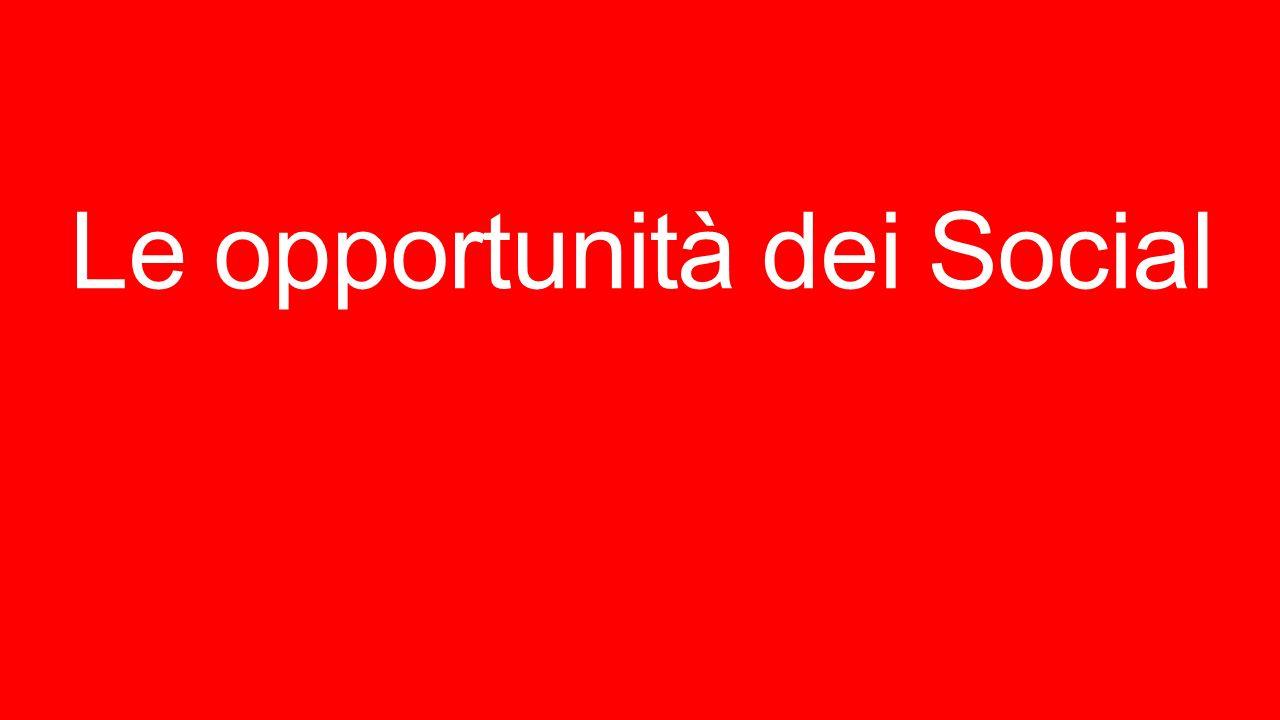 Le opportunità dei Social