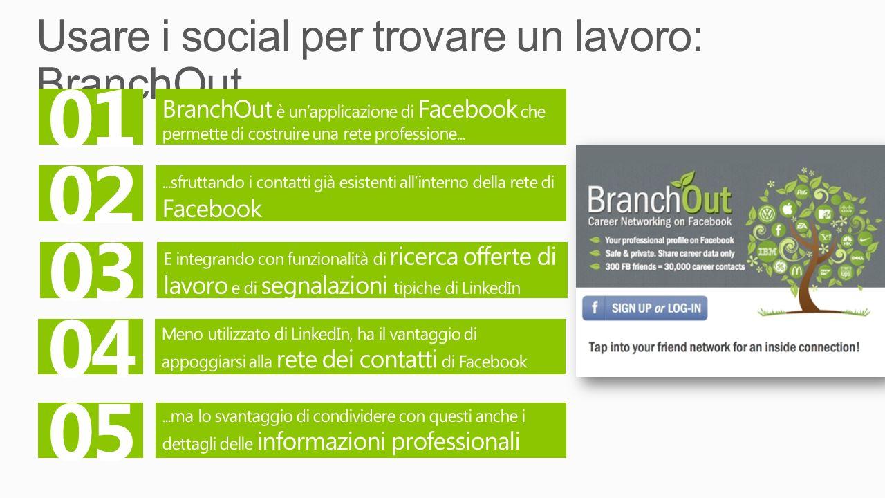 Usare i social per trovare un lavoro: BranchOut