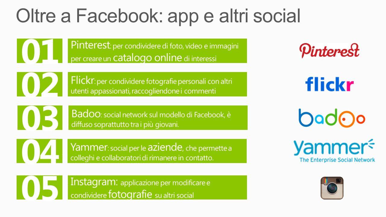 Oltre a Facebook: app e altri social