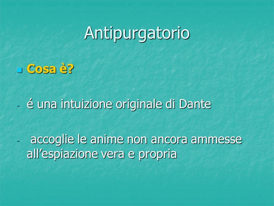 Antipurgatorio Cosa è é una intuizione originale di Dante