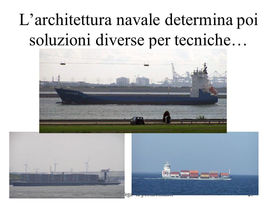 L'architettura navale determina poi soluzioni diverse per tecniche…