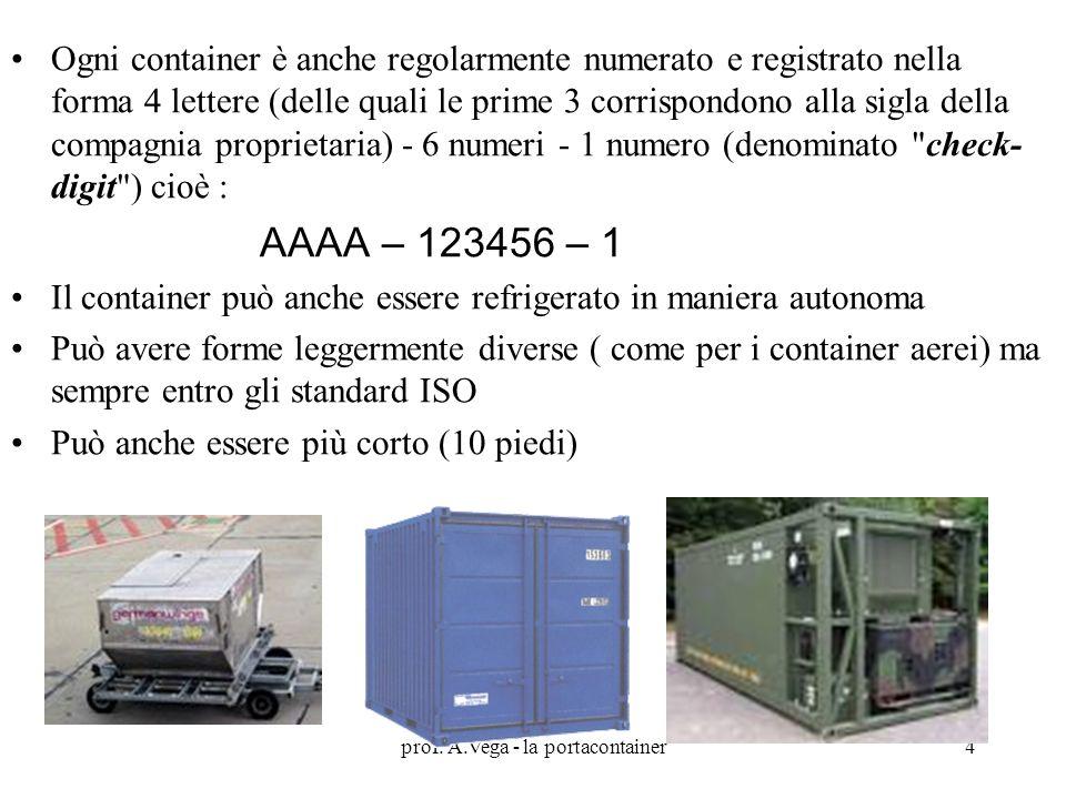 prof. A.Vega - la portacontainer
