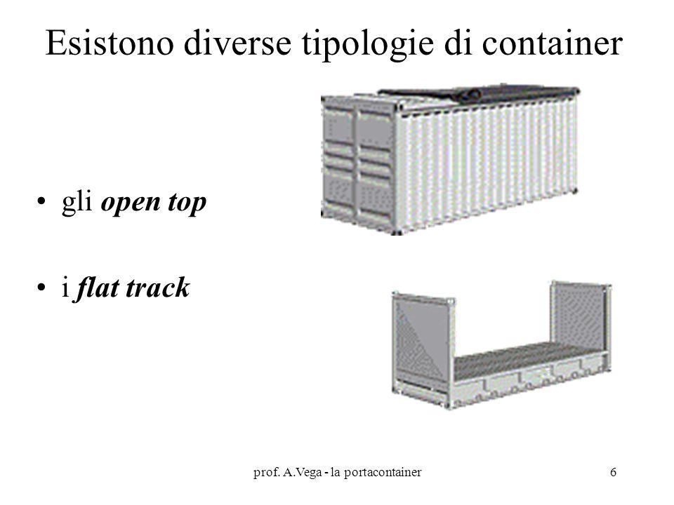 Esistono diverse tipologie di container