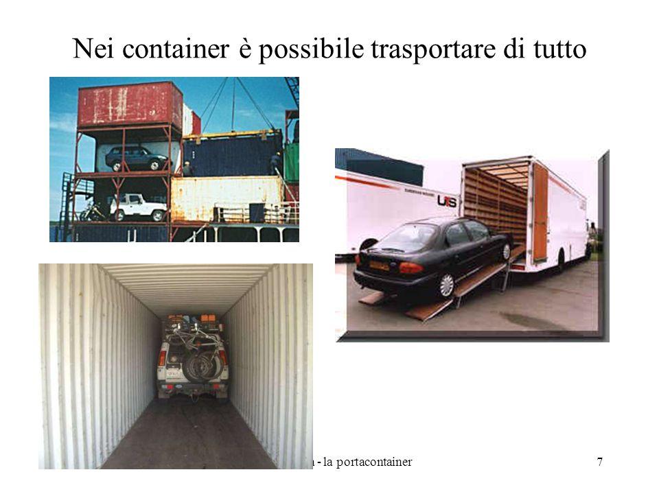 Nei container è possibile trasportare di tutto