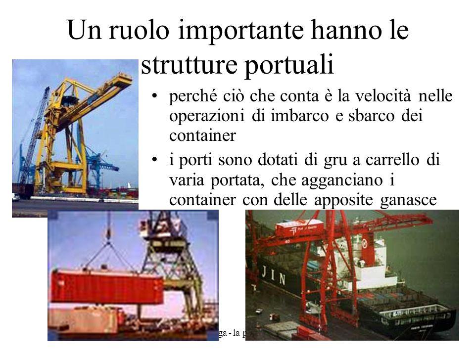 Un ruolo importante hanno le strutture portuali