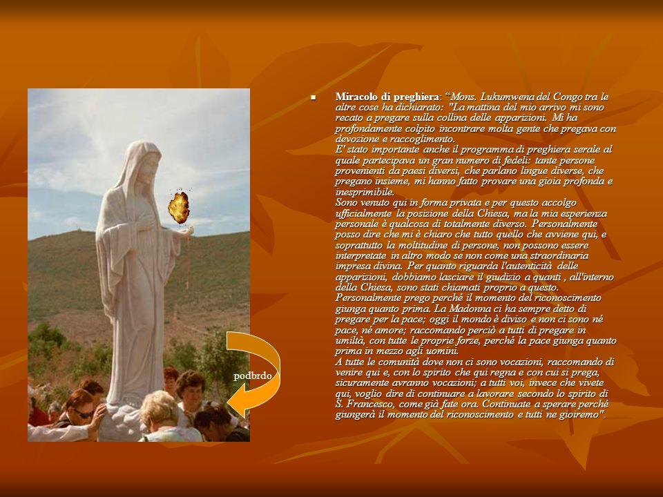 Miracolo di preghiera: Mons