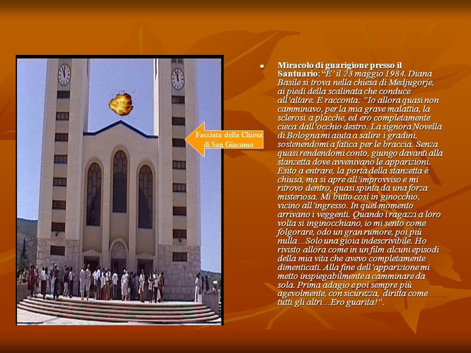 Miracolo di guarigione presso il Santuario: E' il 23 maggio 1984