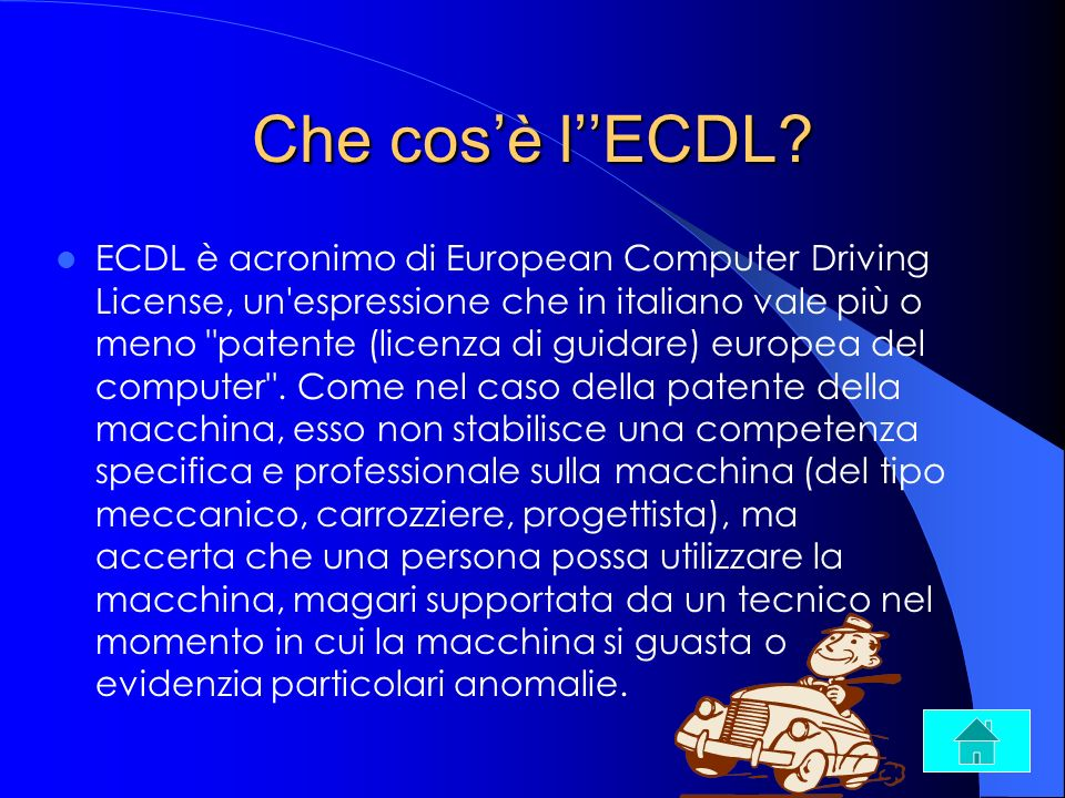 Che cos'è l''ECDL