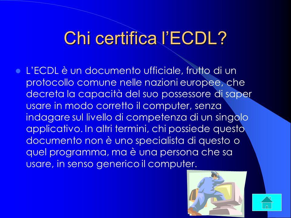Chi certifica l'ECDL