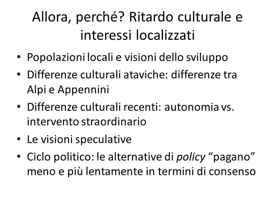 Allora, perché Ritardo culturale e interessi localizzati